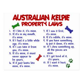 Carte Postale Lois AUSTRALIENNES 2 de propriété de KELPIE