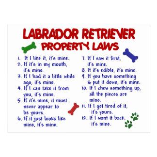 Carte Postale Lois de propriété de LABRADOR RETRIEVER