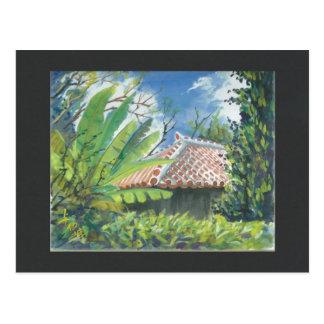 Carte postale l'Okinawa Fukugi de peinture