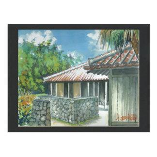 Carte postale l'Okinawa Ishigaki de peinture