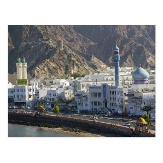 Carte Postale L'Oman, Muscat, Mutrah. Bâtiments le long de