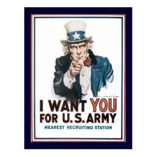 Carte Postale L'Oncle Sam vous veut la guerre mondiale 2