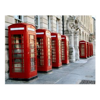 Carte Postale Londres, cabines téléphoniques rouges de style