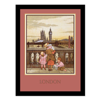 Carte Postale Londres vintage