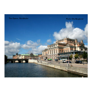 Carte Postale L'opéra, Stockholm, Ola B de photo…