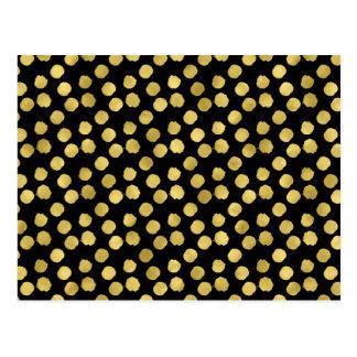 Carte Postale L'or pointille le point noir métallique d'arrière