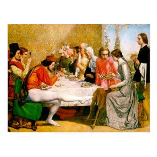 Carte Postale Lorenzo et Isabella par John Everett Millais