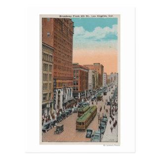 Carte Postale Los Angeles, CABroadway de 4ème vue de rue