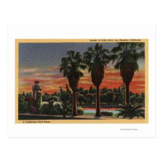 Carte Postale Los Angeles, CaliforniaSunset en parc d'écho