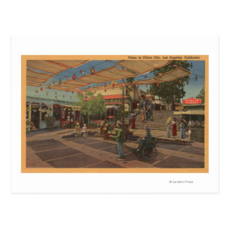 Carte Postale Los Angeles, CAView de plaza dans Chinatown