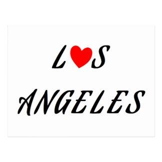 Carte Postale Los Angeles coeur rouge