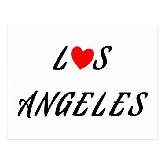 Carte Postale Los Angeles coeur rouge