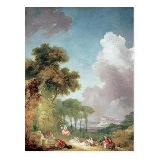 Carte Postale L'oscillation, c.1765