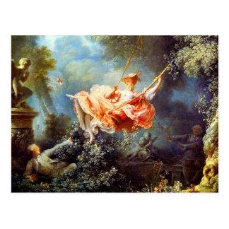 Carte Postale L'oscillation par Fragonard