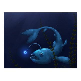 Carte Postale Lotte de mer dans la broussaille