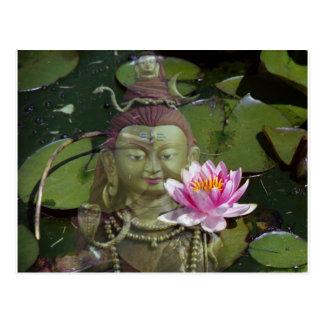 Carte Postale Lotus 1 et Bouddha