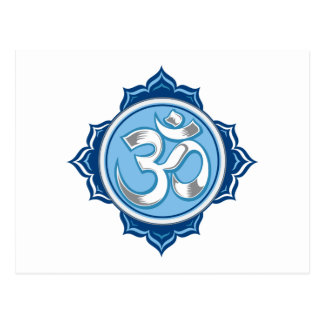 Carte Postale Lotus bleu OM