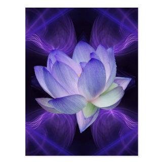 Carte Postale Lotus pourpre et la géométrie sacrée