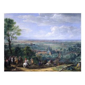Carte Postale Louis XIV au siège de Lille faisant face