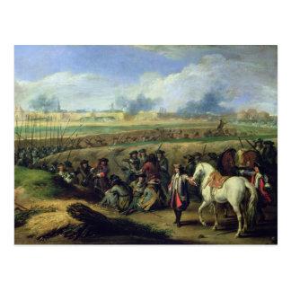 Carte Postale Louis XIV au siège de Tournai