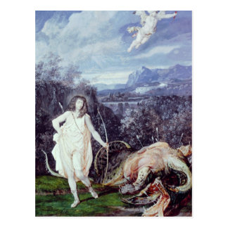 Carte Postale Louis XIV comme Apollo, tueur de python