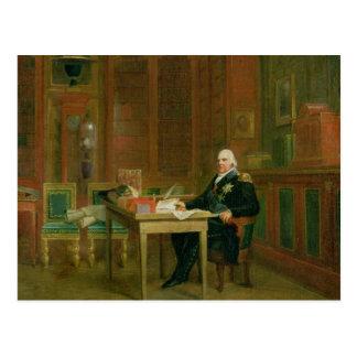 Carte Postale Louis XVIII dans son étude chez le Tuileries