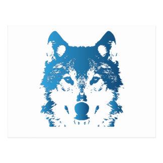 Carte Postale Loup de bleu glacier d'illustration