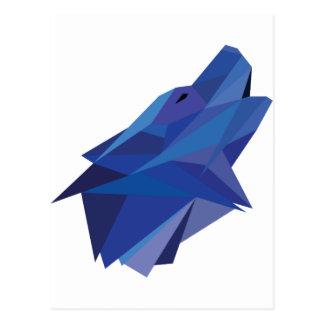 Carte Postale Loup géométrique