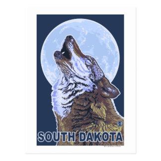 Carte Postale Loup gris HowlingSouth Dakota