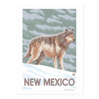Carte Postale Loup gris StandingNew Mexique
