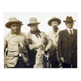 Carte Postale Loup Hunting, 1905 de Teddy Roosevelt