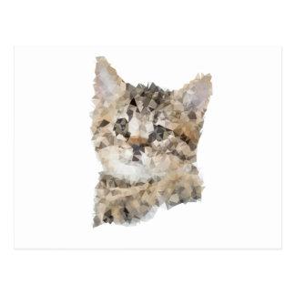 Carte Postale Low poly chaton