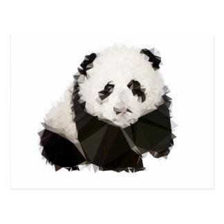 Carte Postale Low Poly Panda