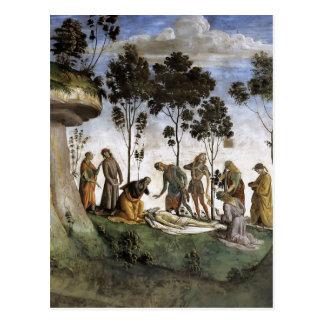 Carte Postale Luca Signorelli : Le testament et la mort de Moïse