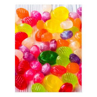 Carte Postale Lucette douce colorée de nourriture de sucreries
