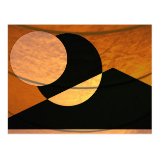 Carte Postale Lueur de planètes, noir et cuivre, conception