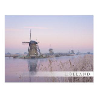 Carte Postale Lumière molle de lever de soleil en hiver