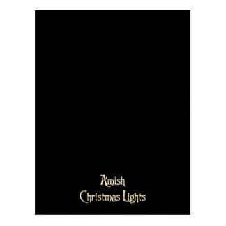 Carte Postale Lumières de Noël amish