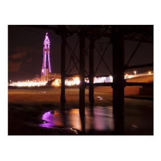 Carte Postale lumières de tour de Blackpool