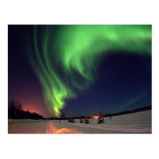 Carte Postale Lumières du nord au lac bear