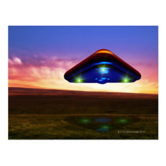 Carte Postale Lumières d'UFO