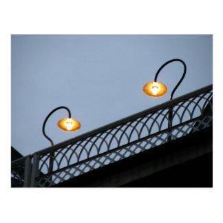 Carte Postale Lumières sur le pont en rue de noix