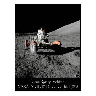 Carte postale lunaire de véhicule d'Apollo 17