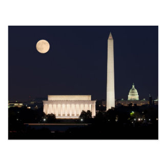 Carte Postale Lune au-dessus de Washington DC