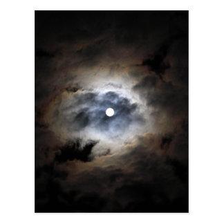 Carte Postale Lune avec des nuages