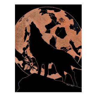 Carte Postale Lune de loup