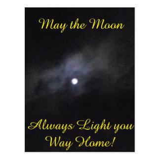 Carte Postale Lune foncée