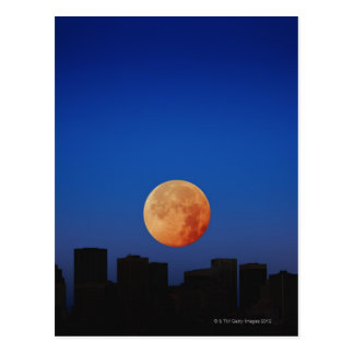 Carte Postale Lune orange
