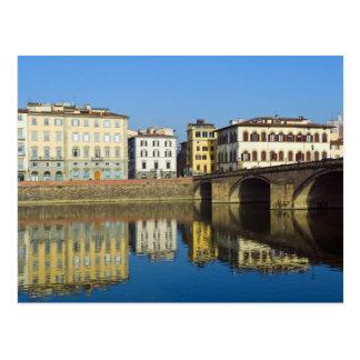 Carte Postale Lungarno Vespucci, alla Carraia de Ponte,