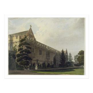 Carte Postale L'université de St John vue du jardin, illustrat